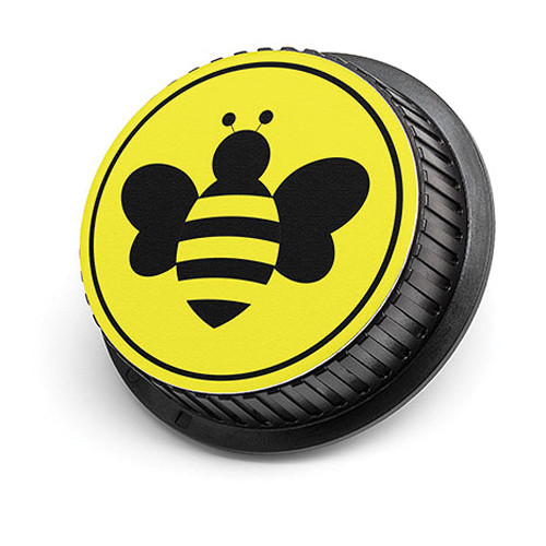 LenzBuddy Bumblebee Rear Lens Cap for Nikon Cameras (Yellow)