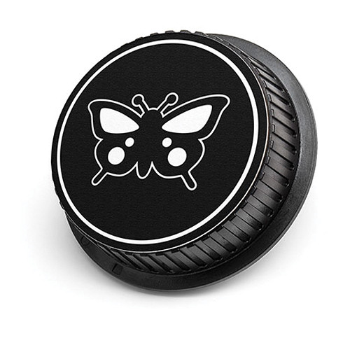 LenzBuddy Butterfly Rear Lens Cap for Nikon Cameras (Black & White)
