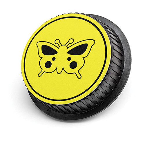 LenzBuddy Butterfly Rear Lens Cap for Nikon Cameras (Yellow)
