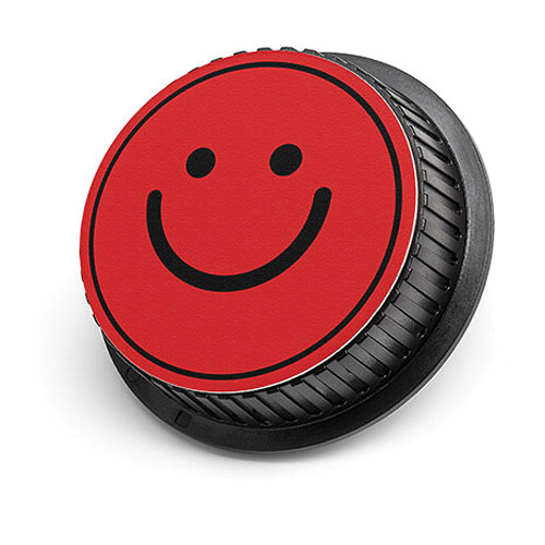 LenzBuddy Happy Face Rear Lens Cap for Nikon (Red)