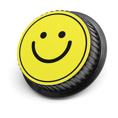 LenzBuddy Happy Face Rear Lens Cap for Nikon (Yellow)