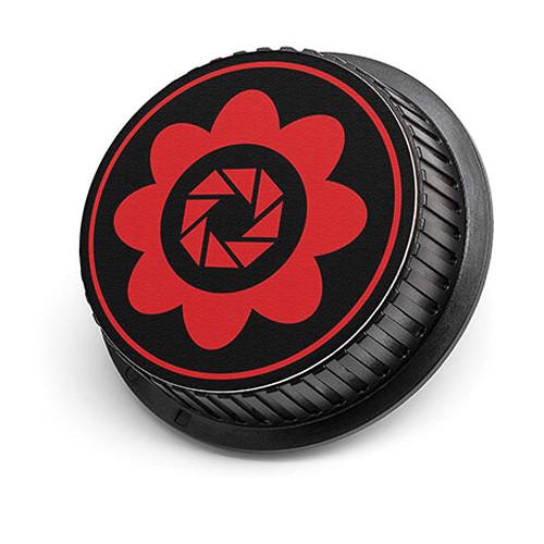 LenzBuddy Flower Rear Lens Cap for Nikon Cameras (Red)