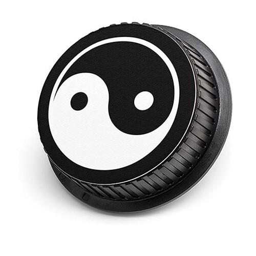 LenzBuddy Yin Yang Rear Lens Cap for Nikon Cameras (Black & White)