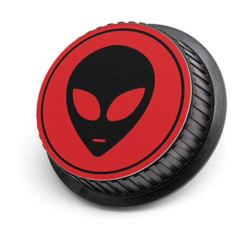 LenzBuddy Alien Rear Lens Cap for Nikon Cameras (Red)