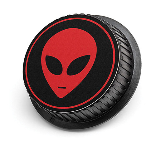 LenzBuddy Alien Rear Lens Cap for Nikon Cameras (Black & Red)