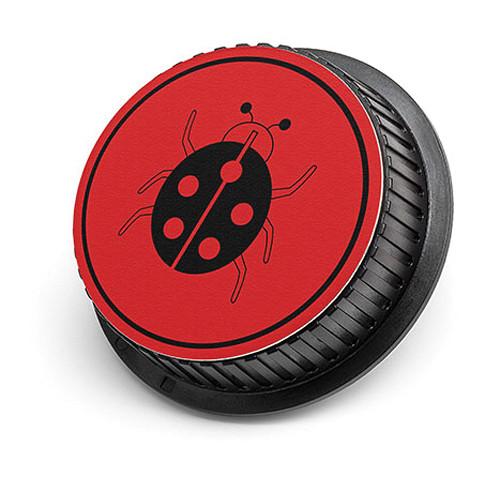 LenzBuddy Ladybug Rear Lens Cap for Nikon Cameras (Red)