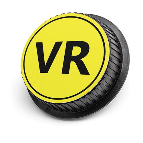 LenzBuddy VR Rear Lens Cap for Nikon Cameras (Yellow)