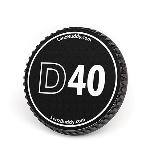 LenzBuddy Body Cap for Nikon F Mount Cameras (D40, Black/White)