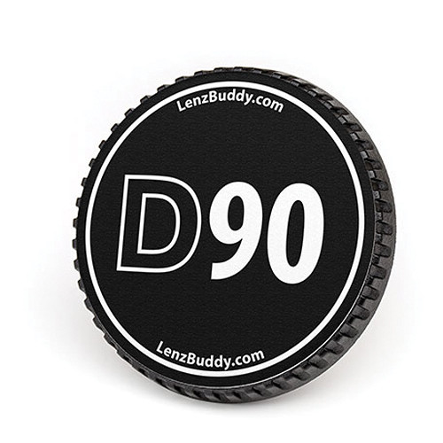 LenzBuddy Body Cap for Nikon F Mount Cameras (D90, Black/White)