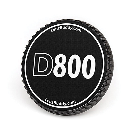 LenzBuddy Body Cap for Nikon F Mount Cameras (D800, Black/White)