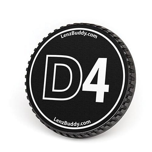 LenzBuddy Body Cap for Nikon F Mount Cameras (D4, Black/White)