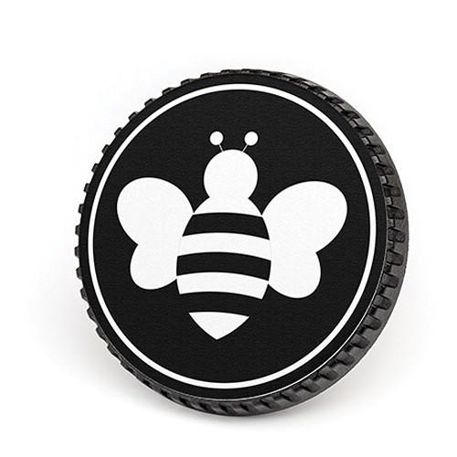 LenzBuddy Body Cap for Nikon F Mount Cameras (Bumblebee, Black/White)