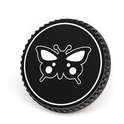 LenzBuddy Body Cap for Nikon F Mount Cameras (Butterfly, Black/White)