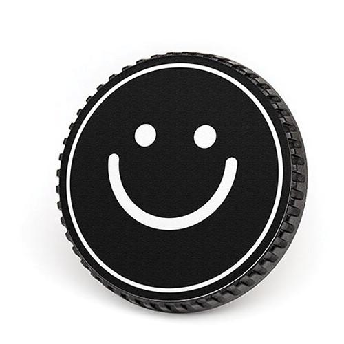 LenzBuddy Body Cap for Nikon F Mount Cameras (Happy Face, Black/White)