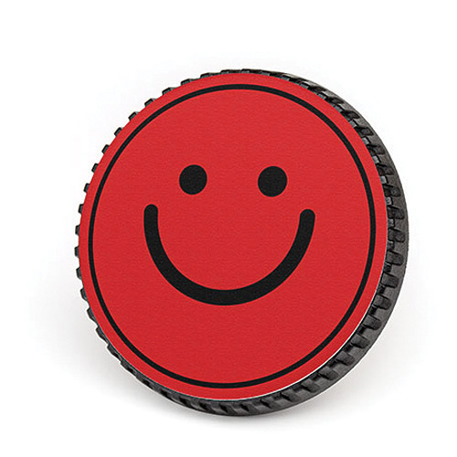 LenzBuddy Body Cap for Nikon F Mount Cameras (Happy Face, Red)