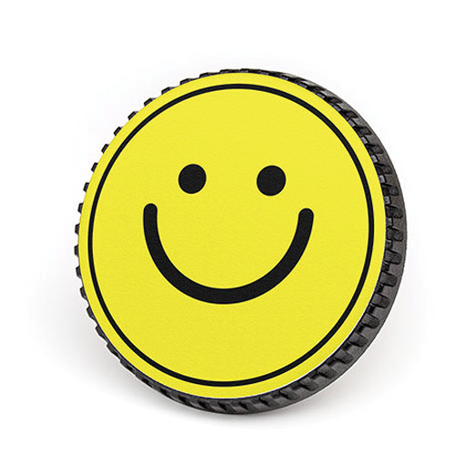 LenzBuddy Body Cap for Nikon F Mount Cameras (Happy Face, Yellow)