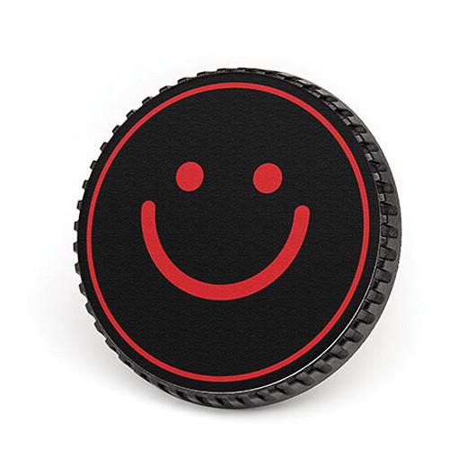 LenzBuddy Body Cap for Nikon F Mount Cameras (Happy Face, Black/Red)