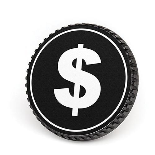LenzBuddy Body Cap for Nikon F Mount Cameras (Dollar Sign, Black/White)