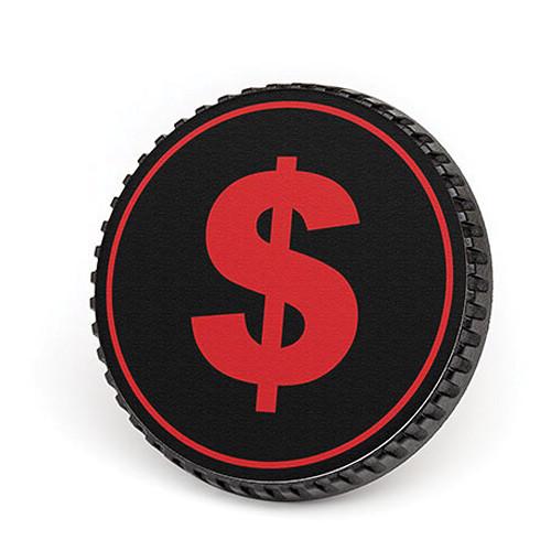 LenzBuddy Body Cap for Nikon F Mount Cameras (Dollar Sign, Black/Red)
