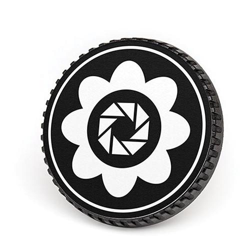 LenzBuddy Body Cap for Nikon F Mount Cameras (Flower, Black/White)