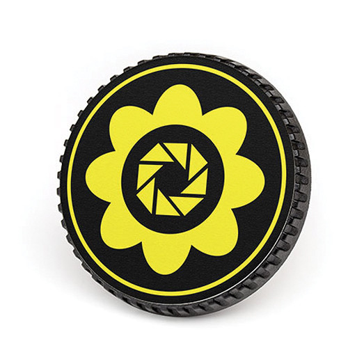 LenzBuddy Body Cap for Nikon F Mount Cameras (Flower, Yellow)