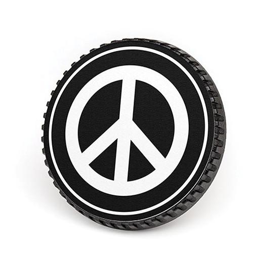 LenzBuddy Body Cap for Nikon F Mount Cameras (Peace Sign, Black/White)