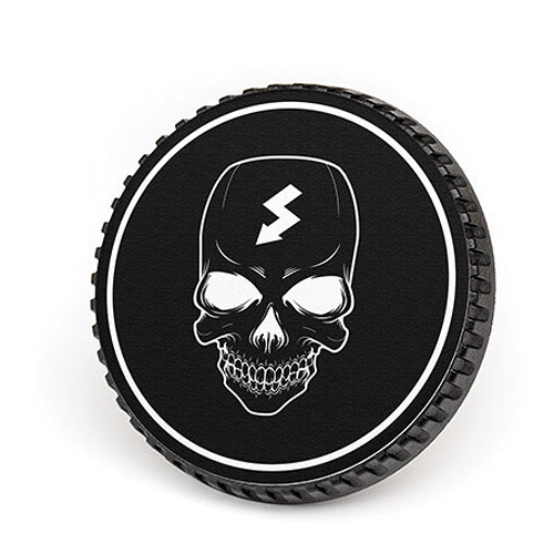 LenzBuddy Body Cap for Nikon F Mount Cameras (Skull, Black/White)