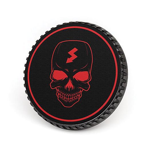 LenzBuddy Body Cap for Nikon F Mount Cameras (Skull, Black/Red)