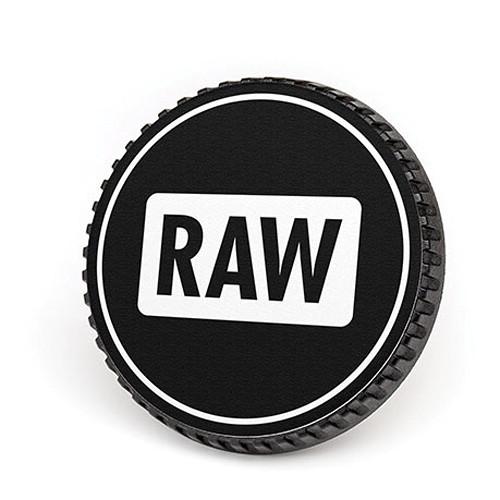 LenzBuddy Body Cap for Nikon F Mount Cameras (RAW, Black/White)