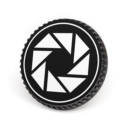 LenzBuddy Body Cap for Nikon F Mount Cameras (Aperture, Black/White)