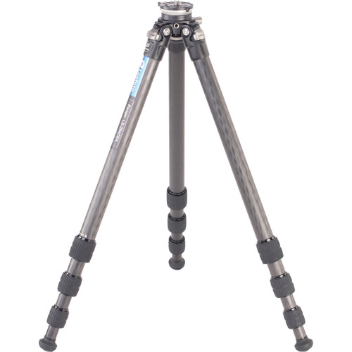 Leofoto 1475mm Minimum Height CF Tripod 4 Section+Built-in Leveling Base 15-Degree(Tilt Ranger Series)