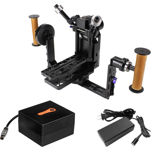 Letus35 Helix 3-Axis Aluminum Camera Stabilizer Kit with Bluetooth and RC Modules, 5200mAh Battery, & Charger