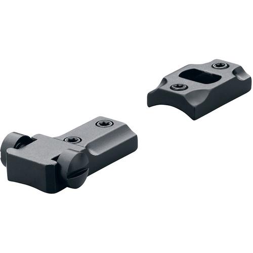 """Leupold STD Savage 10/110 Round Receiver Base & Medium Rings Combo (1"""", Steel, Medium, Matte Black)"""