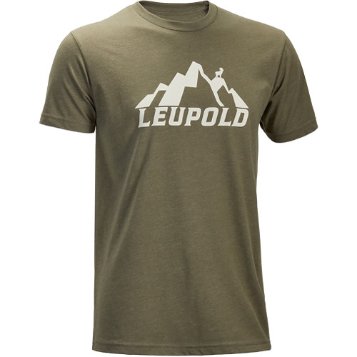 Leupold Men's Short-Sleeved Mt. Leupold Lt. Olive Tee Shirt (L)