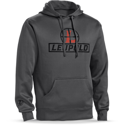 Leupold Reticle Hoodie Sweatshirt (L, Gray)