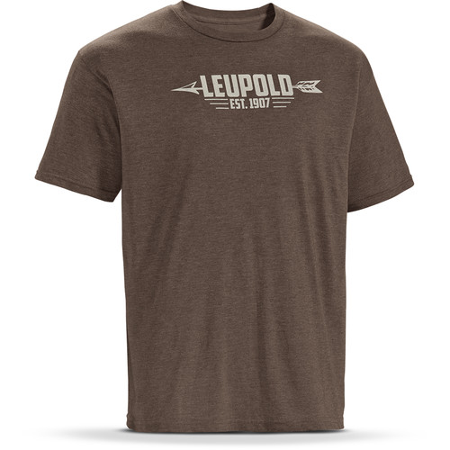 Leupold Short-Sleeve Arrow T-Shirt (Brown Heather, XXL)