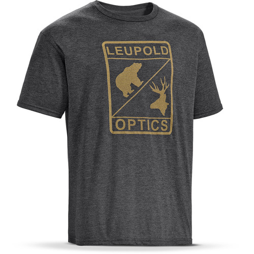 Leupold Short-Sleeve Graphic T-Shirt (Medium, Heather Graphite)