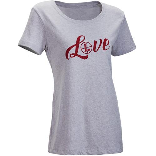 Leupold Women's Short-Sleeved LOVE Tee Shirt (S, Gray Heather)