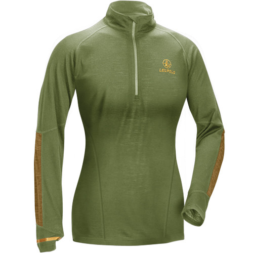 Leupold Women's Secluded Baselayer 1/2 Zip Pullover Sweatshirt (S, Shadow Green)