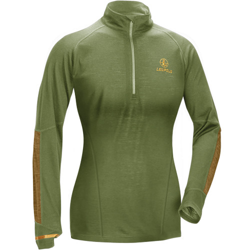 Leupold Women's Secluded Baselayer 1/2 Zip Pullover Sweatshirt (L, Shadow Green)