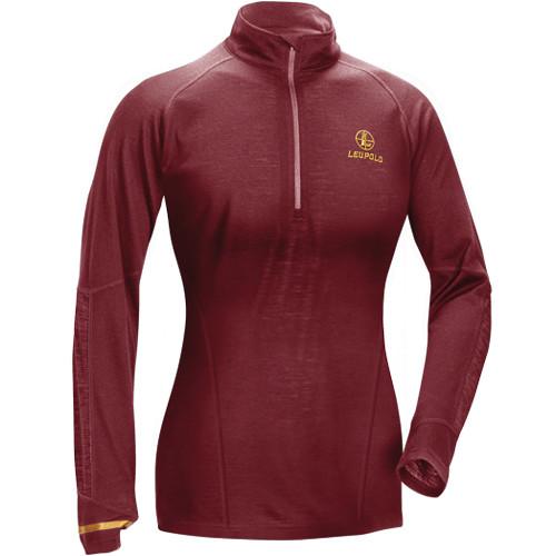 Leupold Women's Secluded Baselayer 1/2 Zip Pullover Sweatshirt (M, Wine)