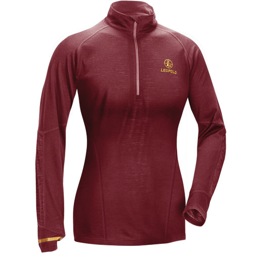 Leupold Women's Secluded Baselayer 1/2 Zip Pullover Sweatshirt (L, Wine)