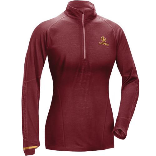 Leupold Women's Secluded Baselayer 1/2 Zip Pullover Sweatshirt (XL, Wine)