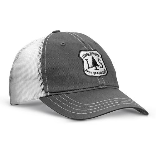 Leupold L Optic Soft Trucker Hat (Charcoal/White, One Size)