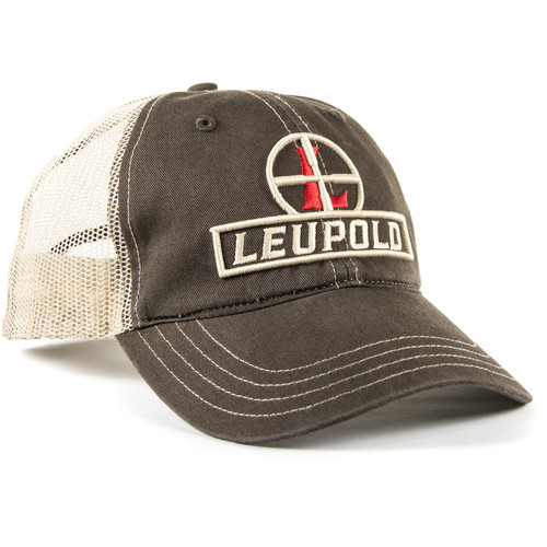 Leupold Reticle Soft Trucker Hat (Brown/Khaki)