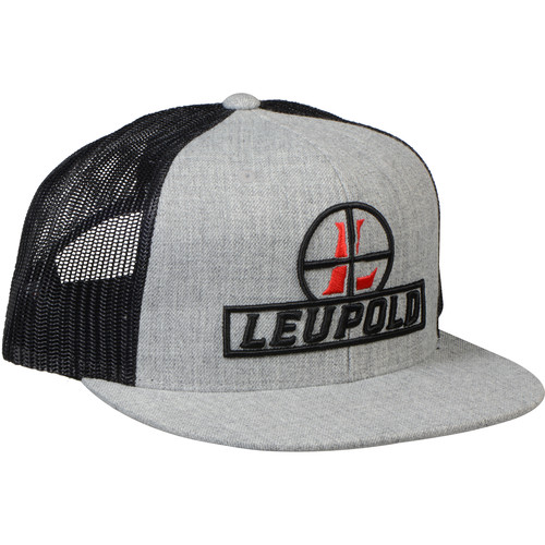 Leupold Reticle Flat Brim Trucker Hat (Black)