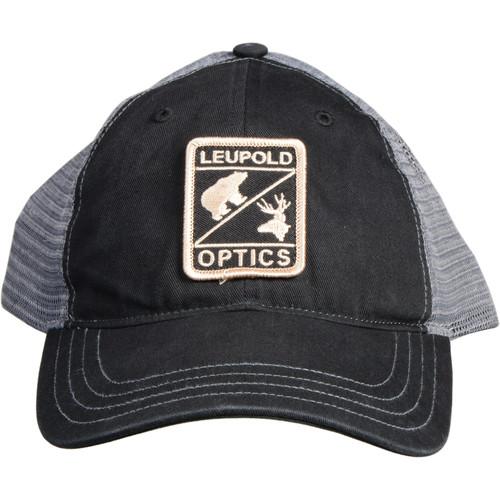 Leupold Reticle Soft Trucker Hat (Black/Gray)