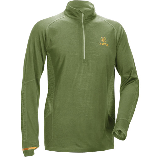 Leupold Men's Secluded Baselayer 1/2 Zip Pullover Sweatshirt (L, Shadow Green)
