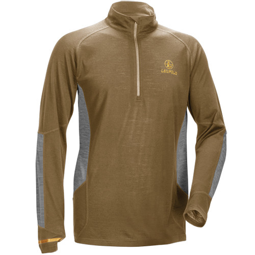 Leupold Men's Secluded Baselayer 1/2 Zip Pullover Sweatshirt (M, Shadow Tan/Gray)