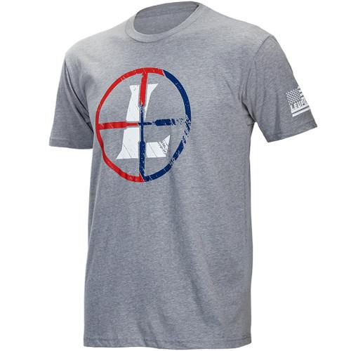 Leupold Men's Short-Sleeved USA Reticle Tee Shirt (2XL, Gray Heather)